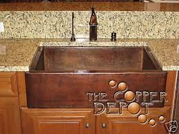 Impressive Copper Kitchen Sinks  Copper Farmhouse Single Bowl - Ebay kitchen sinks