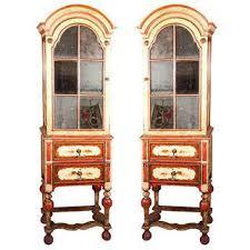 Curio Cabinets Pair Vintage U0026 Used Chinoiserie China And Display Cabinets Chairish
