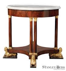 a rare egyptian revival mahogany marble top gueridon american c