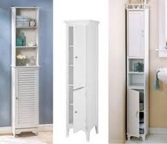 Slim Bathroom Furniture Narrow Linen Cabinet Foter