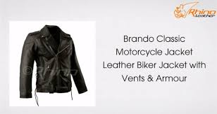 classic leather motorcycle jackets brando classic motorcycle jacket with armour u0026 vents youtube