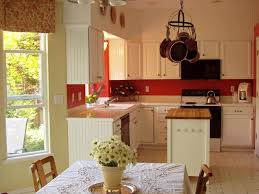 white cabinets red walls kitchen combine with black of decorate a
