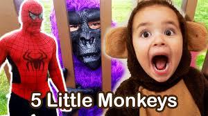 little monkey halloween costume 5 little monkeys jumping on the bed nursery rhymes kids songs