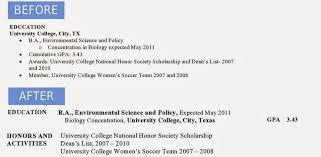 Resume Education Section Judi Fox Blog Jessica U0027s Before U0026 After Resume Remodel