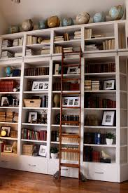 Rolling Ladder For Bookcase by Library Ladder Picmia