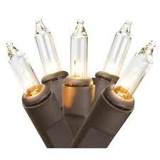 set of 35 clear mini lights brown wire walmart