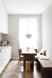 All White Kitchen Cabinets Kitchen Style Scandinavian One Wall Eat In Kitchen Design Brick