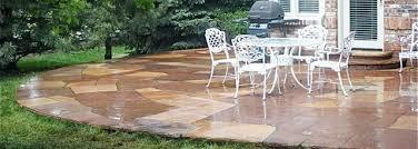 Backyard Flagstone Concrete Denver Custom Decorative Concrete Stamped