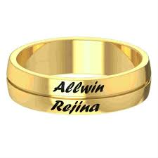 name ring gold husband and name engraved gold ring gold rings for women