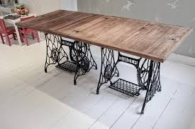 how to make a dining table from an old door a handmade cottage how to make a singer sewing machine dining table