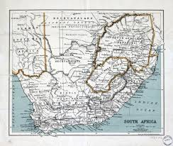 Ou Map Large Scale Detailed Old Map Of South Africa With Relief And Other