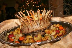 cooking with melody crown roast of lamb with roasted potatoes