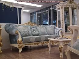 Golden Fabric Classic Sofa Set Living Room Design Exclusive - Classic sofa design