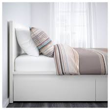 malm bed frame high w 2 storage boxes white lur 246 y malm bed frame high w 2 storage boxes white luröy standard double