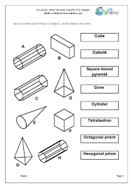 geometry shape maths worksheets for year 4 age 8 9