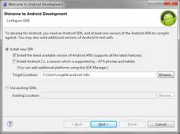 android sdk eclipse how to install the android development tools