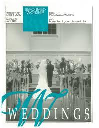 wedding wisdom reformed worship