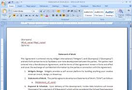 sow template create a statement of work contract from salesforce webmerge