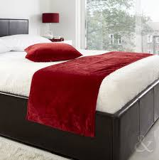 bed runners just contempo velvet bed runner 19x78 inches polyester red