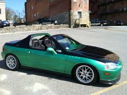 honda civic sol for sale sell used 1995 honda civic sol painted cr s2000 apex blue 40