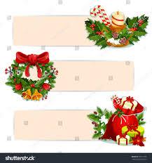 christmas banner set santas gift bag stock vector 507211036