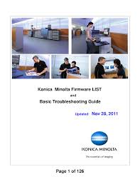 konica minolta firmware list documents
