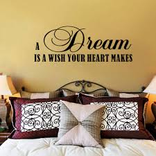 compare prices on heart quotes online shopping buy low price a dream is a wish your heart makes bedroom wall art quotes vinyl wall decal 20cm