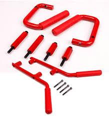 amazon com jeep wrangler jk amazon com danti front u0026 rear solid steel grab handle bar kit for