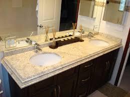 granite countertop cabinet door overlay faucet brass white sink