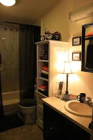 25 best harley bathroom decor images on pinterest bathroom ideas harley davidson bathroom on a budget even the light fixtures were on clearance and rocked