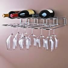 furniture awesome metal wine racks and wall mounted wine glass