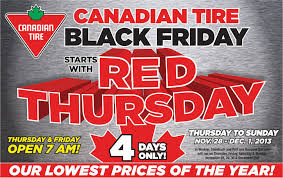 best canadian black friday deals canadian tire red thursday u0026 black friday sale nov 28 dec 1