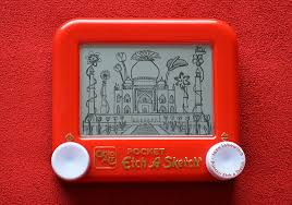 taj mahal flowers etch a sketch art