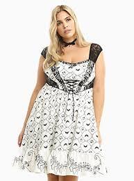 plus size nightmare before bat swing dress