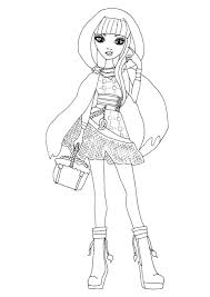 free printable ever after high coloring pages cerise hood ever