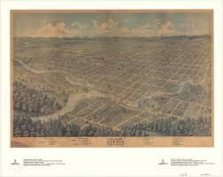 Map Of Ontario Canada Bird U0027s Eye View Of London Ontario Canada 1872