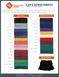 buy cap and gown size color chart