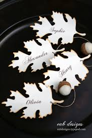 leaf place cards by eab designs for a free download visit http