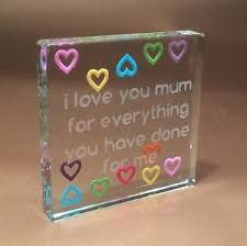 spaceform multi hearts mum token christmas stocking filler gift