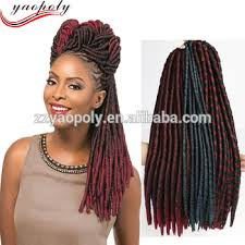 soft dred hair hot selling synthetic braiding hair extension soft dread nina