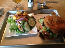 The Blind Rabbit Jacksonville Beach Blues Burger With Side Salad Picture Of The Blind Rabbit