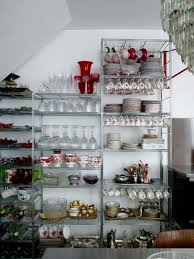 Open Metal Shelving Kitchen by Joséphine Gintzburger U0027s Paris Apartment Creative Display
