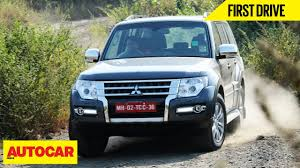 subaru india mitsubishi montero first drive autocar india youtube