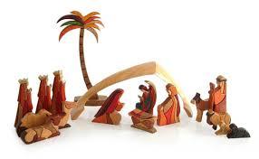 unicef market handcrafted 17 wood nativity set