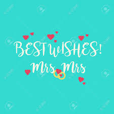 Best Wishes For Wedding Couple Cute Wedding Best Wishes Mrs Mrs Congratulations Greeting Card