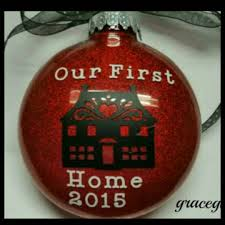 personalized our first home ornament with name and