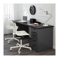 grey desk with drawers linnmon alex alex drawer drawer unit and gray