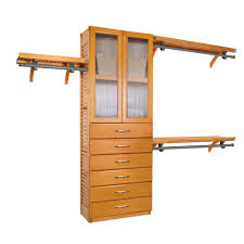 john louis home 12 in deep simplicity closet system in honey