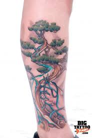 fashion female and have fun bonsai tree tattoo