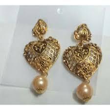 diamond earrings online american diamond matte finish brass earrings american diamond